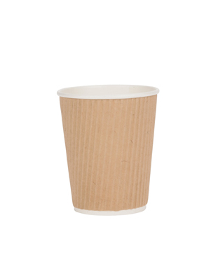 Triple Walled Ribbed Kraft Hot Paper Cups 10 12 Oz ⋆ Cafe