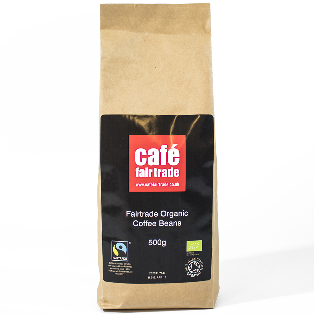 Cafe Fairtrade Organic Espresso Beans 500g