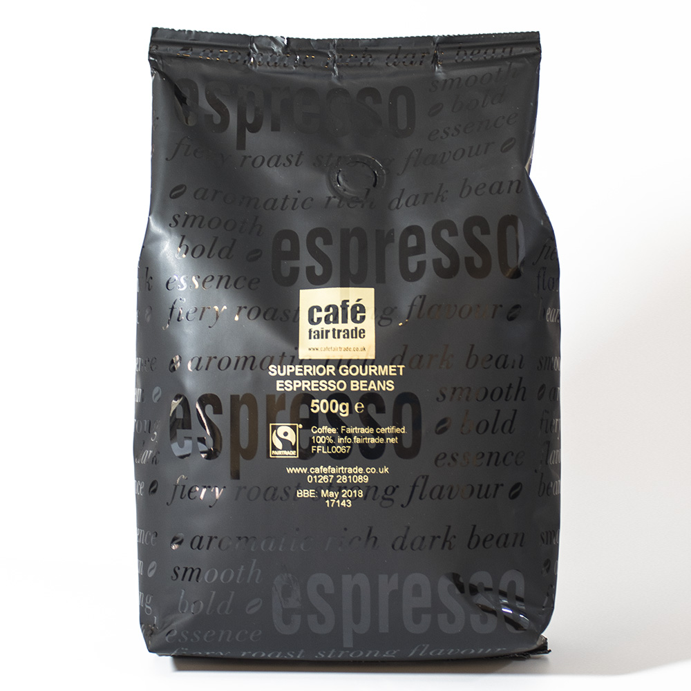 Cafe Fairtrade Superior Gourmet Espresso Beans 500g